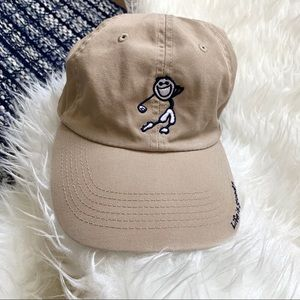 Life is good golf tan khaki adjustable hat onesize